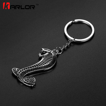 3D Fashion Metal Car Auto Cobra Snake Emblem Badge Key ring Keychain for Ford Focus Mustang shelby GT Car Styling Accessories(China)