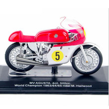 1/22 Diecast Motorcycles Model MV AGUSTA 4cil.500cc. World Champion 1963/64/65 Rider M.Hailwood Italeri Model brinquedos Toys B
