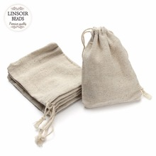 10Pcs/lot 8*10/9*12/10*14/13*17cm Jute Drawstring Pouch Burlap Bags Wedding Birthday Party Gift Bags Jewelry Supplies F2759(China)