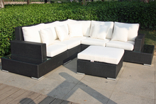 2017 Living room outdoor furniture Rattan sectional sofas corner furniture Sofa(China)