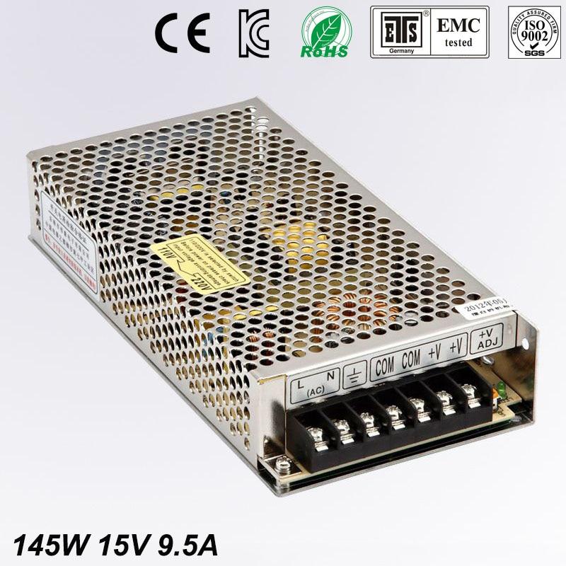 Universal Switch power suply 15V DC 9.5A 145W Led Driver Unit Led Transformer 220v 110v AC To DC Fonte 15V For CNC CCTV<br>