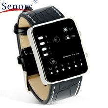 Attractive Digital Red LED Sport Wrist Watch Binary Wristwatch PU Leather for men and women #30
