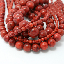 Wholesale Round Red Coral Beads Natural Handmade Fashion Jewelry Beads For Jewelry Making DIY Bracelet Necklace Hot Selling