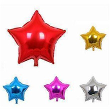 5PCS 25CM Aluminum Helium Balloon Wedding Holiday Party Birthday Balloons Wholesale Children's Toys Heart Star Shape 10inch 7Z(China)