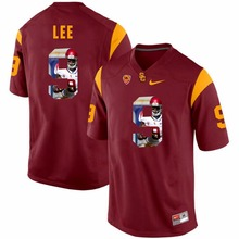 NIKE USC Marqise Lee 9 College Printed Jersey Ice Hockey Jerseys- White Size S,M,L,XL,XXL,3XL(China)