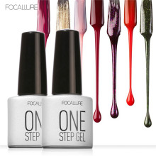 FOCALLURE One Step Nail Polish Gel 3 in 1 UV LED Soak off Nail Gel Polish Nail Art Varnish