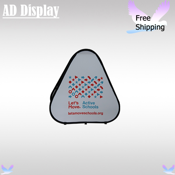 Outdoor Portable Display 5PCS Triangle Shape Pop Up A Banner Frame With Double Side Printing(Optional)(China)