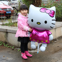 Large 116*65cm Hello Kitty Cat Foil Helium Balloons Cartoon Birthday Decor Wedding Party Inflatable Air Balloons Classic Toys