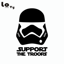 Star Wars Car Sticker SUPPORT THE TROOPS Stormtrooper Vinyl Car Decal