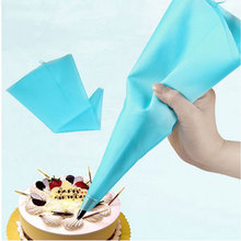 "Kitchen Portable 13"" Reusable Silicone Icing Piping Cream Pastry Bag Cake DIY Decorating Tool Hot Baking Accessories #58097"