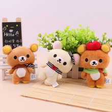 Creative cartoon cute bear animal plush doll mobile phone pendant plush accessory stuffed toy gift wholesale 10pc