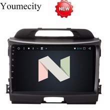 Youmecity Android 7.1 Car DVD player Gps for KIA Sportage r Sportage 2009 2010 2014 2011 2012 2013 2015 Radio RDS wifi BT+2G RAM