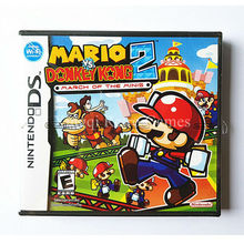 Nintendo NDS Game Mario VS Donkey Kong 2 Video Game Cartridge Console Card US English Version with Manual Book Retail Package