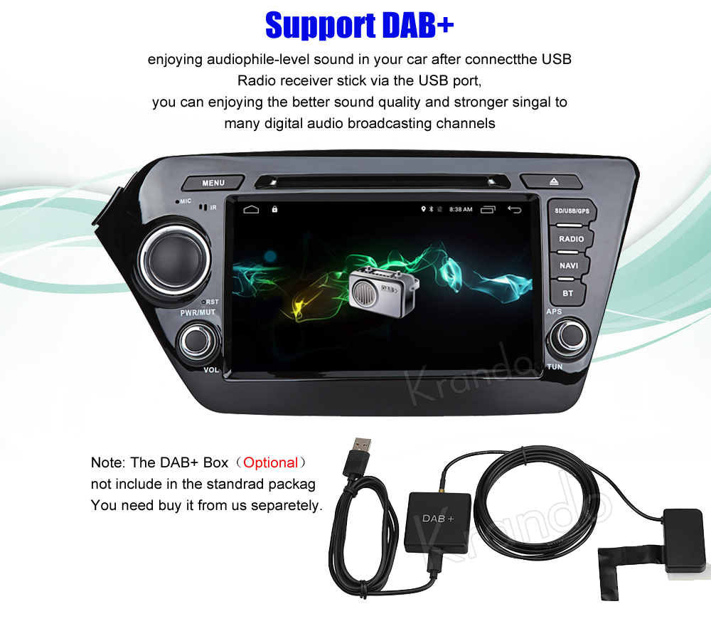 Krando kia k2 rio Android car radio gps navigation multimedia system (6)