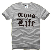 Thug Life Tupac 2PAC Rock Rap Mens Men T Shirt Tshirt Fashion 2016 New Short Sleeve O Neck Cotton T-shirt Tee Camisetas Hombre(China)