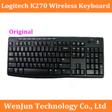 Free Shipping Logitech K270 Wireless Keyboard with Durable UV-coated Keys slim Keyboard computer keyboard