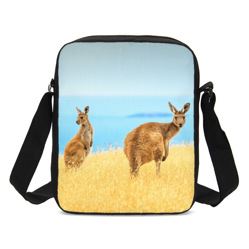cd8c149a842c Crossbody Bags For Kids Boys Girls Animal Kangaroo Prints Sling Bags ...