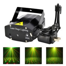 New Black Mini Portable Red Green R&G Meteor Shower Laser Lights DJ KTV Home Xmas Party Dsico Show LED Stage Lighting O100B