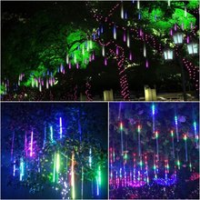 Mini Multi-color 30CM Meteor Shower Rain Tubes AC100-240V LED Christmas Lights Wedding Party Garden Xmas String Light Outdoor(China)