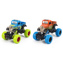1: 34 Scale Mini Alloy Metal Diecast Car Baby Toys Kids Pull Back Four Wheel Pick-up Car Model Vehicle Gift Toy for Children Boy