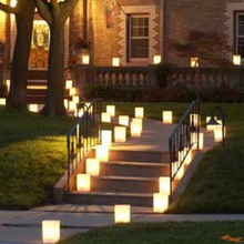200pcs/lot Sun Shine Tea Light Holder Luminaria Paper Lantern Candle Bag For BBQ Christmas Party Home Outdoor Wedding Decoration