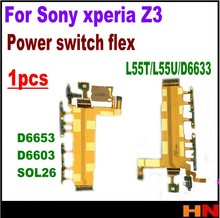 1pcs top qualtiy New Power Switch microphone Flex Cable For Sony Xperia Z3 Dual L55T L55U D6633 D6653 D6603 SOL26 Parts repair