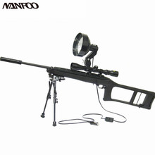 "6"" 150MM 12V 100W Halogen Rifle Mounted Spotlight Scope Mounted Spotlight Gun Light Adjustable Spot or Floor Scope mounted torch(China)"