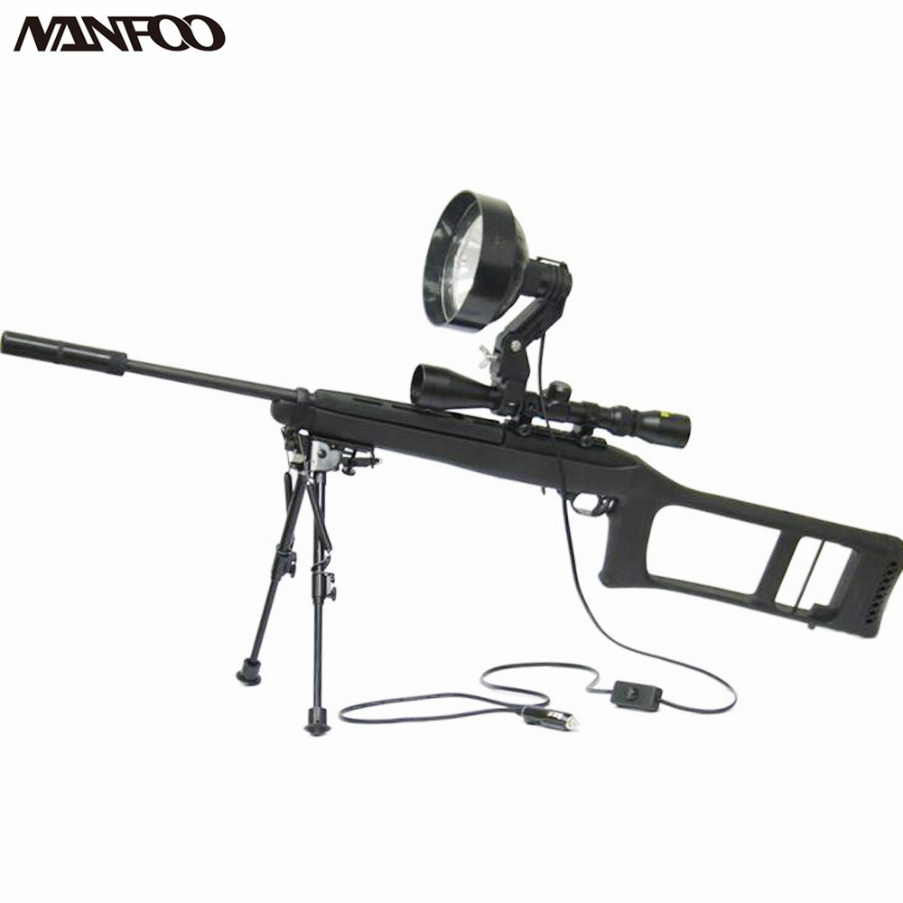 "6"" 150MM 12V 100W Halogen Rifle Mounted Spotlight Scope Mounted Spotlight Gun Light Adjustable Spot or Floor Scope mounted torch(China (Mainland))"