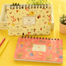 Cute cartoon floral animals weekly planner 17*13cm 59 pages Korean fashion notebook students gift