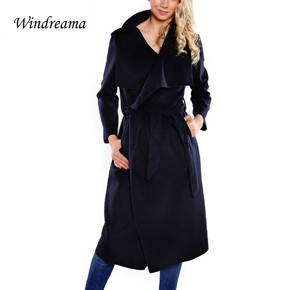 Windreama High Quality Spring Fashion Women Wool B...