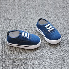 Insole 13~16.2cm kids solid colors children shoes for baby boys shoes girls canvas shoes(China)