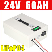 24V 60AH LiFePO4 Battery Pack Super Long life 1500W Electric bike Scooter Li ion battery waterproof case LCD display(China)