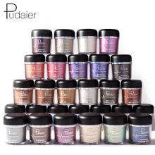 PUDAIER New Glitter Metallic Powder Eyeshadow Single Color Pigments Easy to Wear Waterproof Shimmer Eye Shadow Powder Make Up(China)