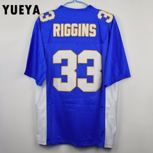 "YUEYA ""Friday Night Lights"" Movie Jerseys #33 Tim Riggins American Football Jersey Mens Cheap Blue S-3XL"