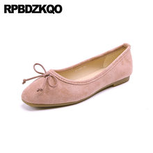 Ladies Suede Red Moccasins Shoes Cheap Bow Kawaii 2018 Knot Bowtie Square  Toe Soft Ballet Flats Women Cute Candy Ballerina Pink 14cd82d7dfc7