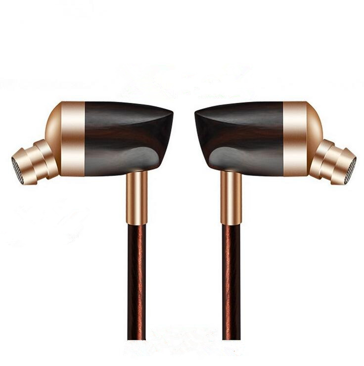 Newest BOSSHIFI B3 Dynamic and Armature 2 unit Wood Earbuds HIFI Ebony Moving Iron&amp;Coil  In Ear Earphone DIY Wooden Headset<br>