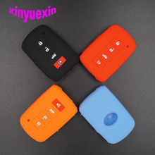 Xinyuexin Silicone Car Key Cover FOB Case For Toyota Camry RAV4 4 buttons Smart Remote Car Key Jacket Car-stying With Logo