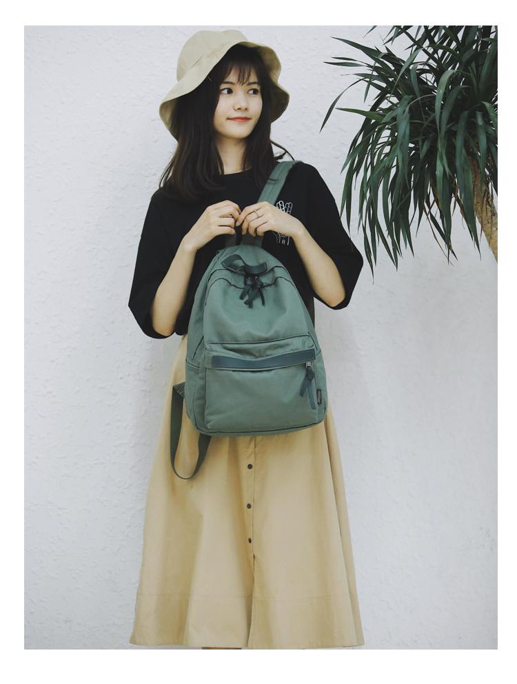 Menghuo High Quality Women Canvas Backpack Teenage Girls Leisure Backpack Bag Vintage Stylish Female School Bag Bookbag Mochilas (10)