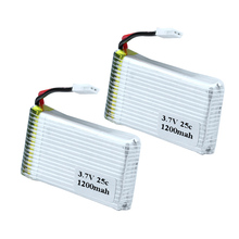 2pcs Lithium Polymer Lipo Battery 3.7v 1200mah 25C For M18 / H5P Syma X5S X5SW X5SC RC Quadcopter Model Drone Bateria