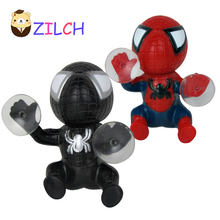 ZILCH 16CM Spiderman Toy Climbing Window Sucker Spider-Man Doll Car Home Interior Decoration For Kids