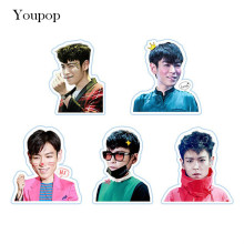 Youpop KPOP BIGBANG TOP T.O.P Album PVC Stickers For Luggage Cup Notebook Laptop Car Fridge DIY Stickers TZ044