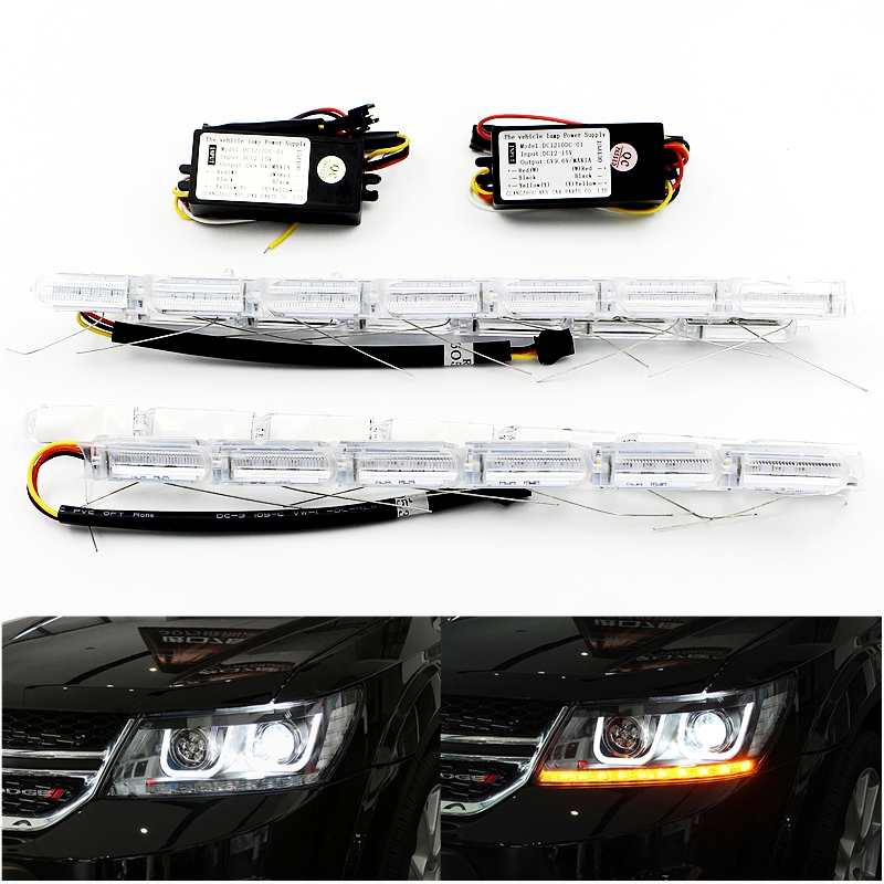 Flexible Crystal Flow Meteor Bar Lamp Telescopic Eyes Steering LED Car DRL Daytime Running Light Headlight Turn Signal Styling<br><br>Aliexpress