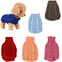 Pet Dog Cat Knitted Sweater Jumper Winter Warm Puppy Cute Coat Jacket Clothes Costume Sweater For Small Dogs Chihuahua S-L(China)