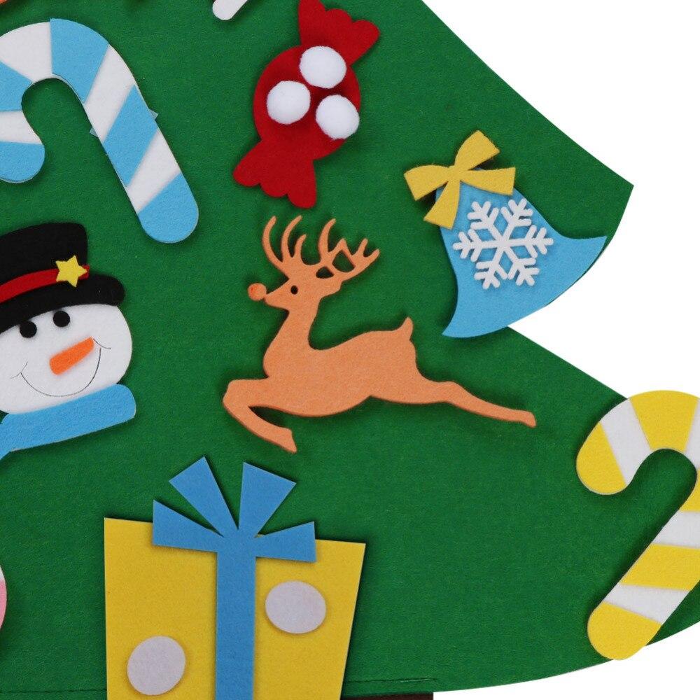 Ourwarm 18 DIY Felt Christmas Tree Pendant Drop Ornaments New Year Gift for Children Kids Door Wall Hanging Xmas Decoration 11