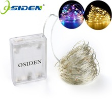OSIDEN Battery Led String Light 2M 5M 10M 3*AA Battery Operated Garland Outdoor Indoor Home Christmas Decoration Light Led Strip(China)