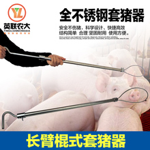 Fine stainless steel long pole set of pigs stick type long arm of the pig Veterinary baoding long distances Pig equipment(China)
