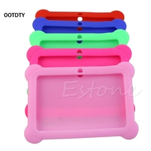 "OOTDTY Brand New Security High Quality Silicone Cute Soft Gel  Box Cover For 7"" Android A13 A23 Q88 Tablet PC Kids"