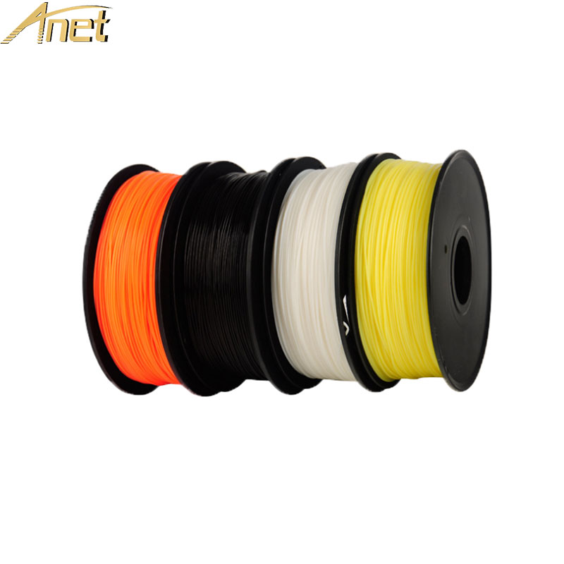Anet PLA 3d Printer Filament 1kg/Roll 2.2lb 1.75mm Filament Plastic Rod Rubber Ribbon Consumables Refills for 3D Printer 10PCS