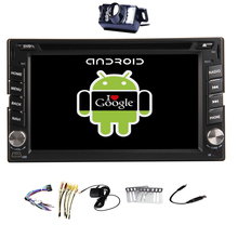 Android 4.4 EQ 2Din Stereo System Radio Car DVD AMP OBD2 WiFi Receiver GPS RDS BT Navigator Autoradio FM PC Video