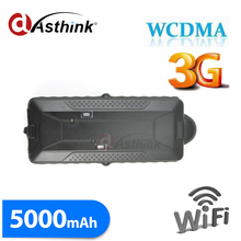 3G WCDMA Car Gps Tracker 5000mAh Magnet 3G Vehicle Tracker GPS+GSM+WIFI Positioning Offline Logger gobal gps